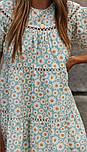 Вільне плаття літнє у квітковий принт з коротким рукавом (р. S-L) 68032386, фото 3
