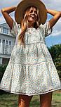 Вільне плаття літнє у квітковий принт з коротким рукавом (р. S-L) 68032386, фото 4