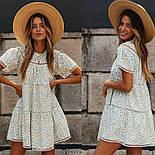 Вільне плаття літнє у квітковий принт з коротким рукавом (р. S-L) 68032386, фото 5