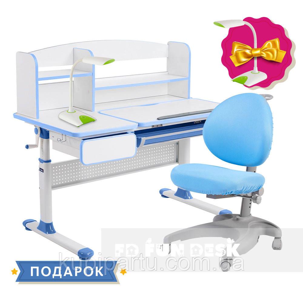 Комплект для школяра парта Cubby Rimu Blue + ергономічне крісло FunDesk Cielo Blue