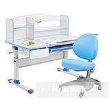 Комплект для школяра парта Cubby Rimu Blue + ергономічне крісло FunDesk Cielo Blue, фото 2