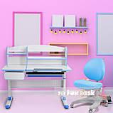 Комплект для школяра парта Cubby Rimu Blue + ергономічне крісло FunDesk Cielo Blue, фото 7