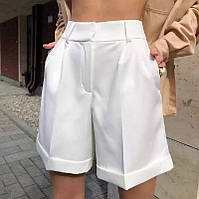 Женский шорты бермуды белый