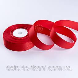 Репсова стрічка шириною 25 мм червоного кольору, бобіна 23 м