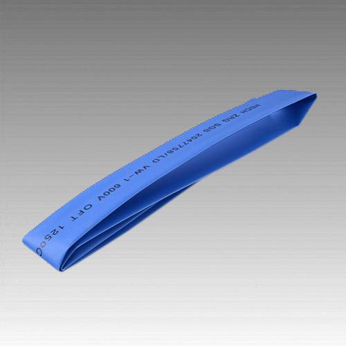 Термоусаживаемая трубка 12мм синий (пак 1м*20шт)