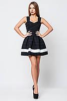 Платье женское Грация черный белый/ (1 полоска)