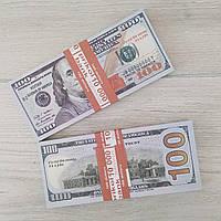 Деньги сувенирные 100 долларов новые