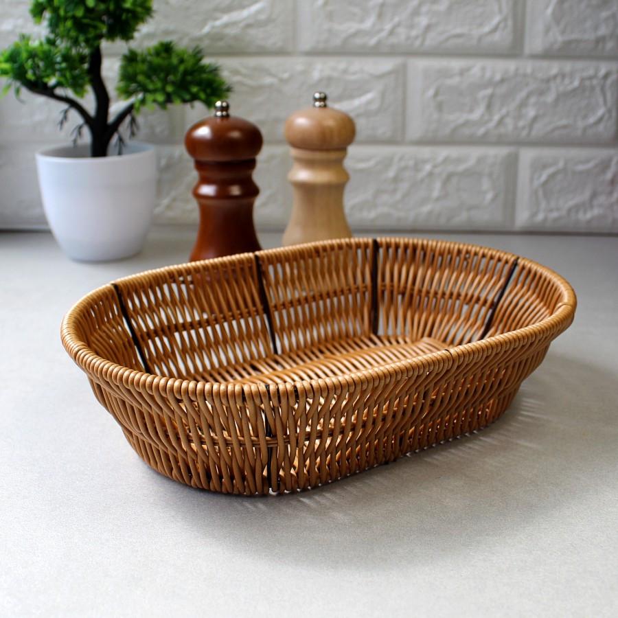 Кошик світлий для хліба каркасний HLS 25*17*6 см (7316)