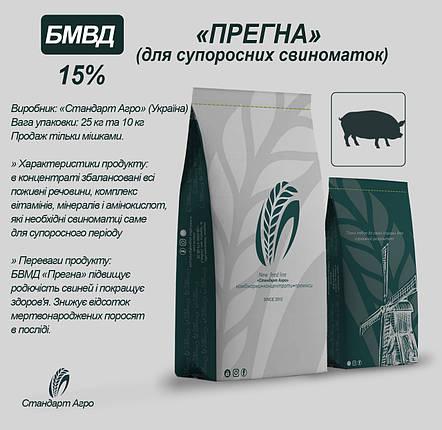 """БВМД для супоросных свиноматок ТМ """"Стандарт Агро"""" Прегна 15%, фото 2"""
