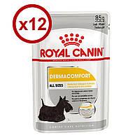 Royal Canin Dermacomfort Loaf 85г*12 шт паштет для собак с чувствительной кожей