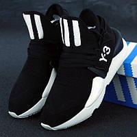 Мужские кроссовки в стиле Adidas Y-3 Kaiwa Knit, черно-белый, Китай