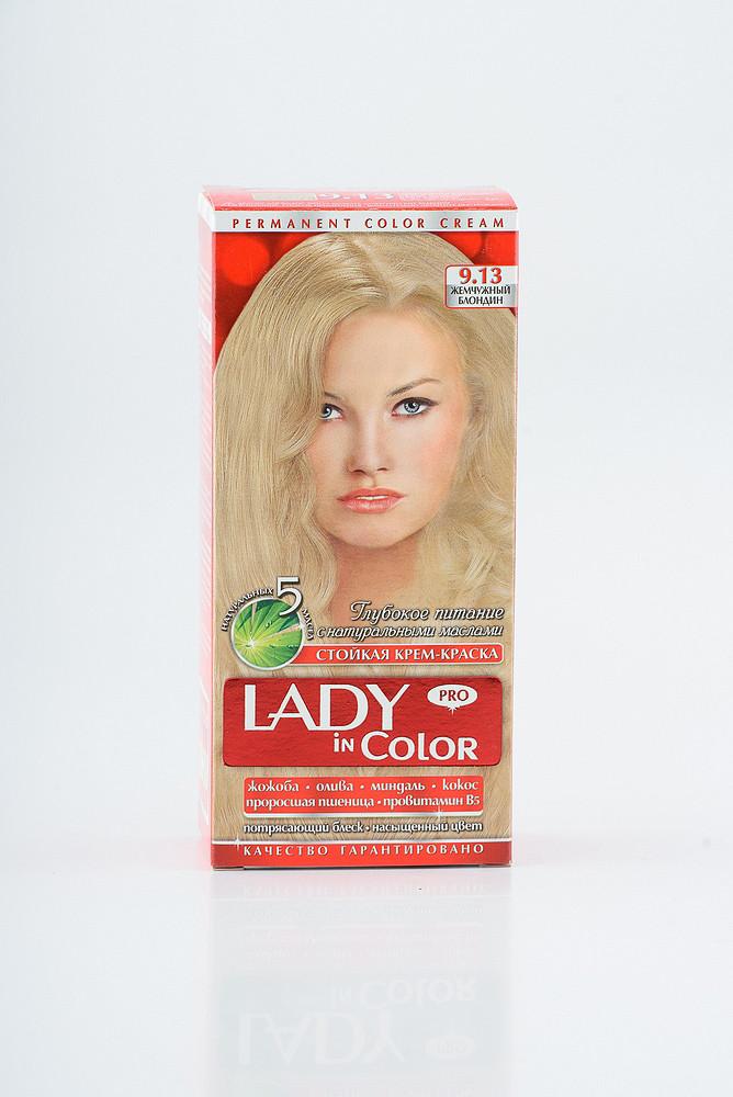 Lady in color фарба для волосся №9.13 Жемчужний блондин