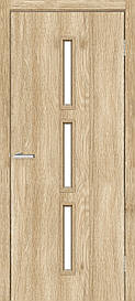 Двері міжкімнатні Оміс Техно T 03 скло сатин