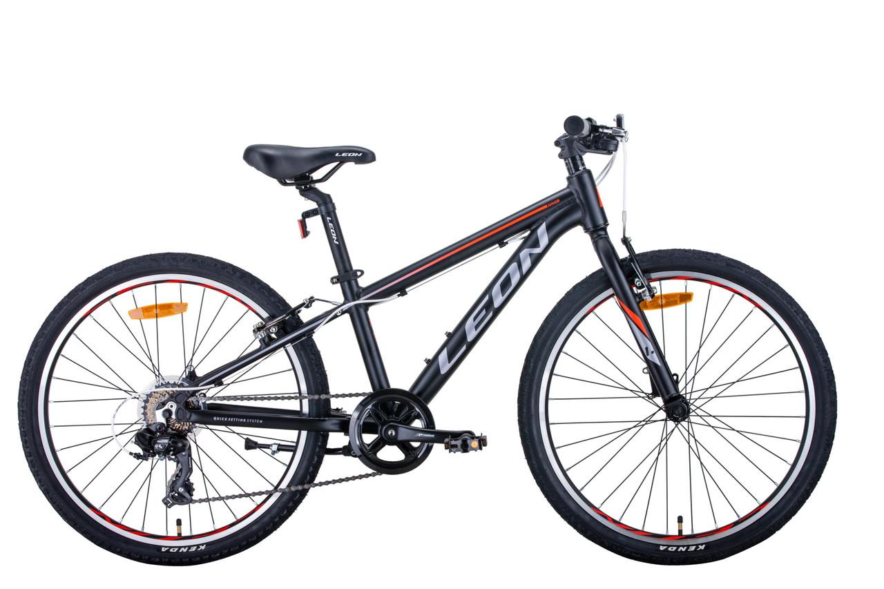 "Велосипед AL 24"" Leon JUNIOR  Vbr  рама-12"" чорний"