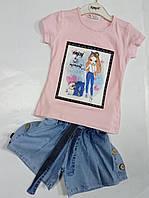 Костюм футболка + шорти Enjoy this sweet на 1-4 роки