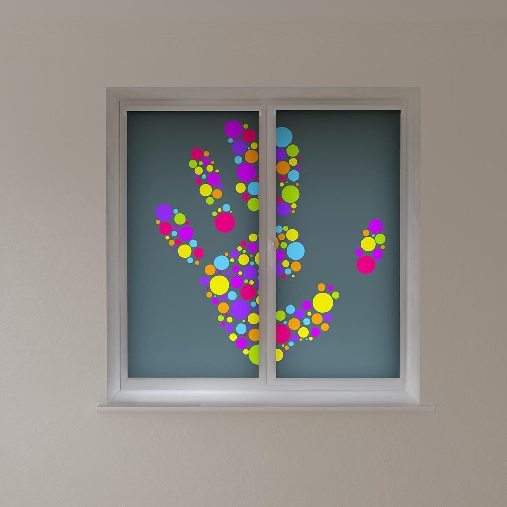 Рулонные шторы с фотопечатью цветные круги 3Д