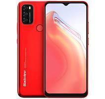 Смартфон Blackview A70 Red, 3/32Gb, 2sim, экран 6.52'' IPS, 4G, 13+2+2/5 Мп, 5380mAh, Android 11