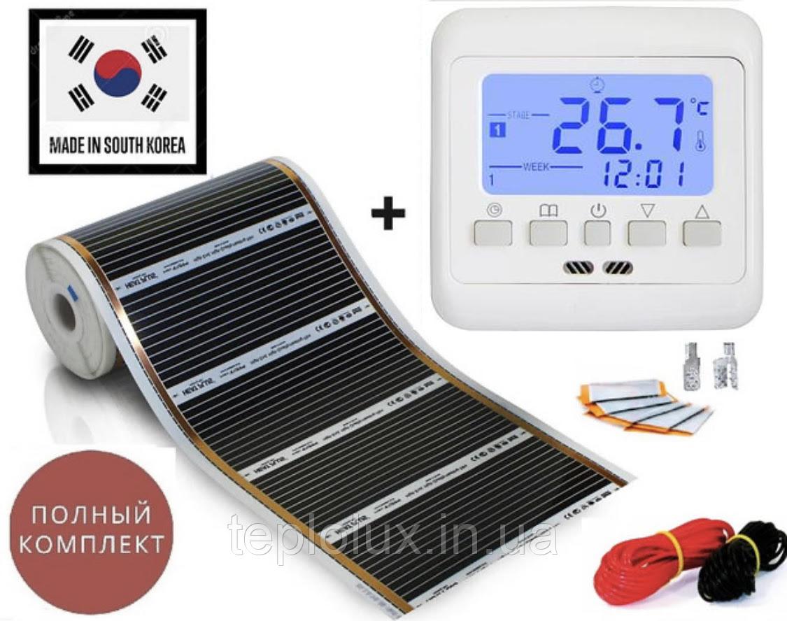 """7м2.Інфрачервона тепла підлога """"RexVa"""" (Корея), комплект з програмованим терморегулятором Floureon C08"""