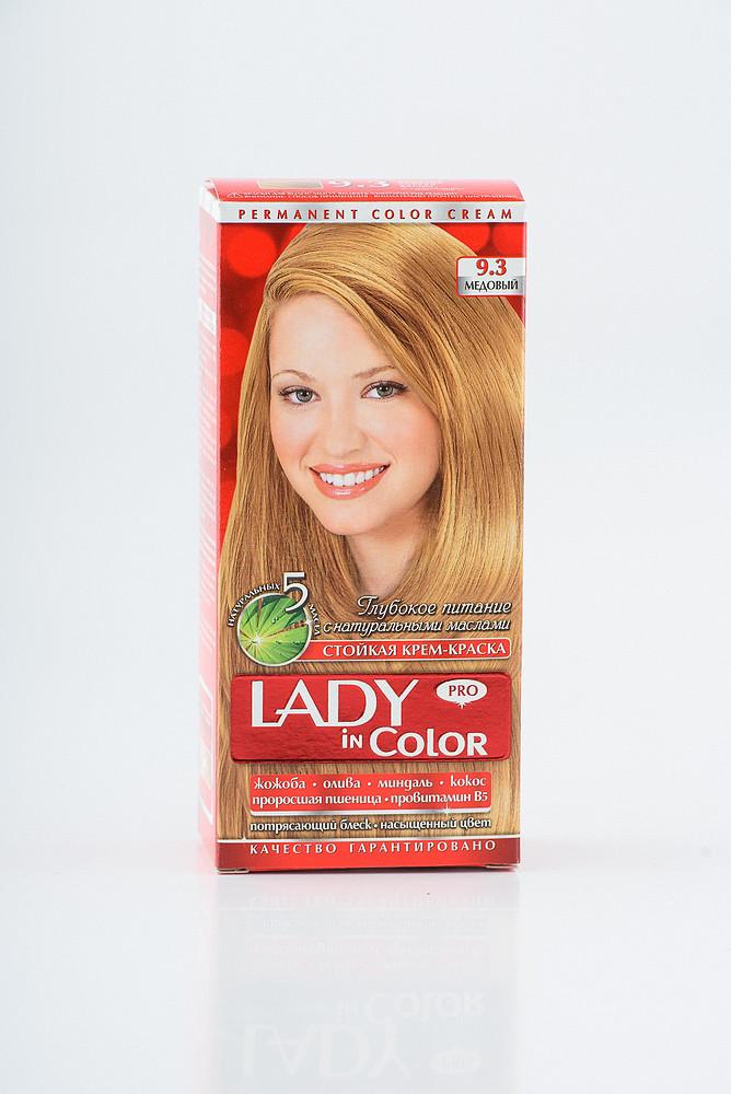 Lady in color фарба для волосся №9.3 Медовий