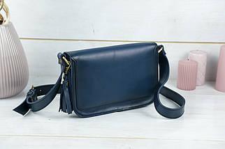 Жіноча шкіряна сумка Берті, натуральна шкіра італійський Краст, колір Синій, фото 3