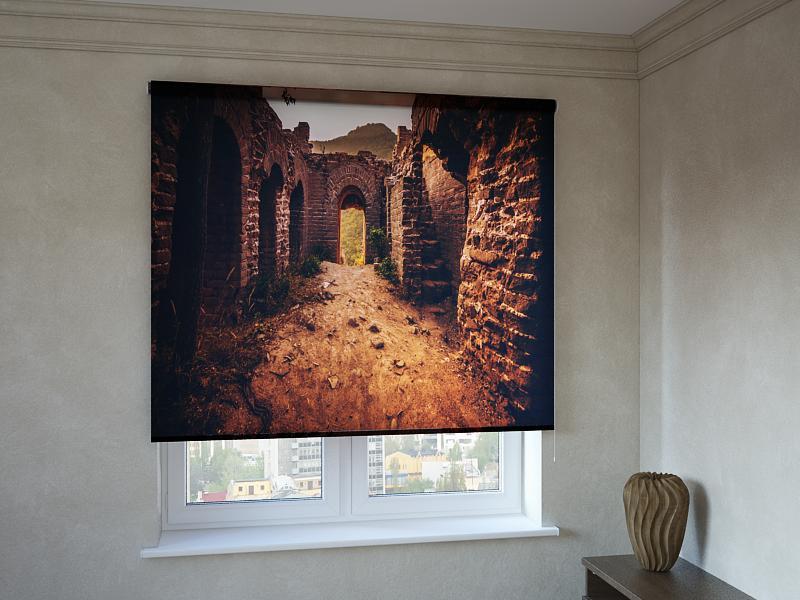 Рулонні штори з фотодруком стародавні руїни