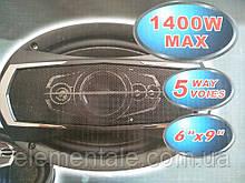 Автомобільні динаміки, Акустичні колонки Автозвук в машину ts-6995 1400 вт 5в1