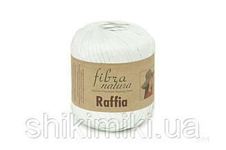 Пряжа Raffia Fibranatura, цвет Белый