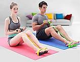 Спортивный Фитнес тренажер для мышц рук ног живота Pull Reducer Синий, фото 7