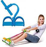 Спортивный Фитнес тренажер для мышц рук ног живота Pull Reducer Синий, фото 8
