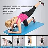 Многофункциональный Набор трубчатых эспандеров Трубчатые фитнес резинки для упражнений 5 штук, фото 10