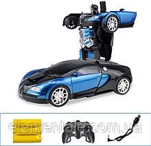 Машинка Автобот на пульті управління Трансформер з пультом bugatti іграшка на радіоуправлінні