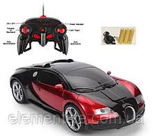 Машинка Автобот на пульті управління Трансформер з пультом bugatti червона іграшка на радіоуправлінні