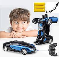 Машинка Автобот bugatti с пультом Робот игрушка на радиоуправлении