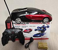 Машинка Автобот bugatti с пультом Робот красная игрушка на радиоуправлении