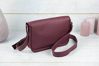 Женская кожаная сумка Берти, натуральная кожа Grand, цвет Бордо, фото 3