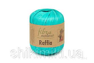 Пряжа Raffia Fibranatura, цвет Бирюзовый