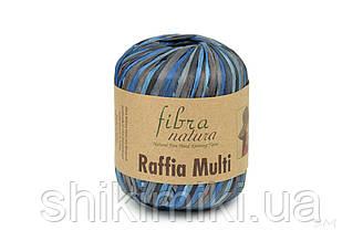 Пряжа Raffia Fibranatura, цвет Мультисиний