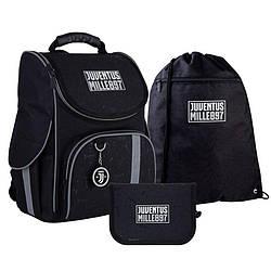 Школьный набор Kite Education FC Juventus Рюкзак каркасный + пенал + сумка для обуви (SET_JV21-501s)
