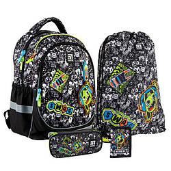 Школьный набор Kite Education Рюкзак 38x28x16 18 л + пенал + сумка для обуви + кошелек (SET_K21-700M-1)