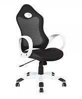 Кресло Матрикс-1 Белый, сиденье Сетка черная/спинка Сетка черная