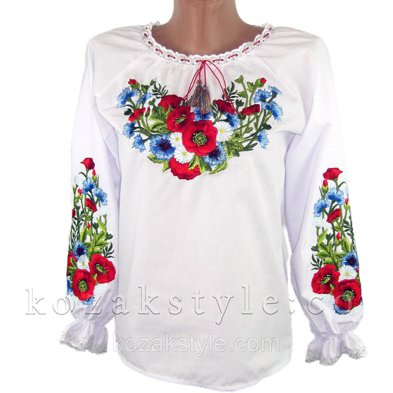Українська вишианка на дівчинку Лугові квіти