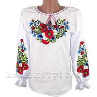 Українська вишиванка на дівчинку Лугові квіти