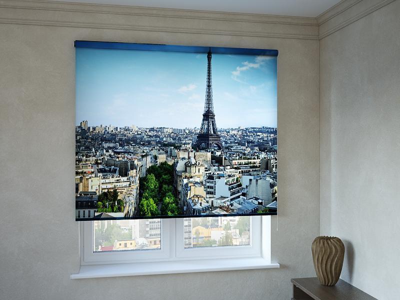 Рулонні штори з фотодруком Париж 3D