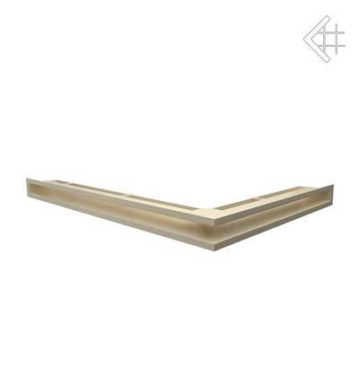 Вентиляционная решетка для камина KRATKI люфт угловая левая 766х547х60 мм SF бежевая, фото 2