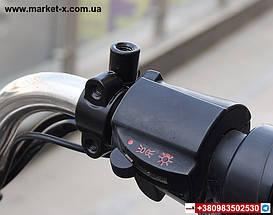 Комплект дзеркало заднього виду на велосипед, скутер, мопед, мотоцикл. З металевими хомутами., фото 3