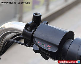 Комплект зеркало заднего вида на велосипед, скутер, мопед, мотоцикл. С металлическими хомутами., фото 3