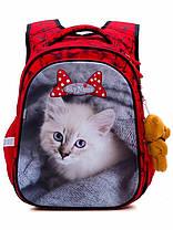 Рюкзак шкільний для дівчинки 1-4 клас ортопедичний на 20 л. Червоний SkyName R1-014, фото 2