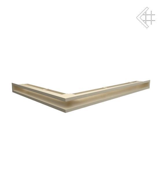 Вентиляционная решетка для камина KRATKI люфт угловая правая 547х766х60 мм SF бежевая