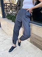Женские коттоновые джоггеры на резинке, 00740 (Темно-серый), Размер 44 (M), фото 3
