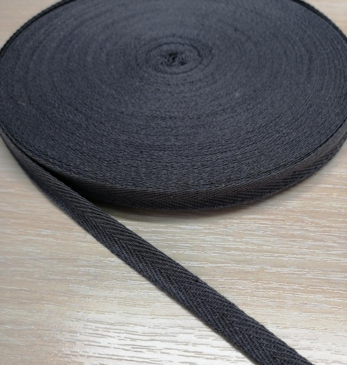 Киперная стрічка хб, 15 мм. сірий
